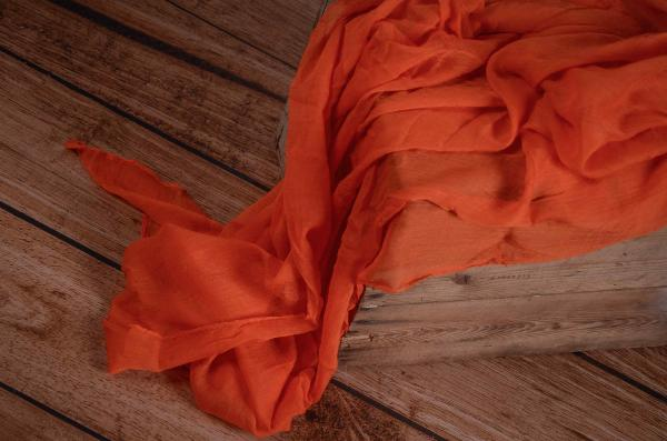 Wrap aus Musselin in Orange