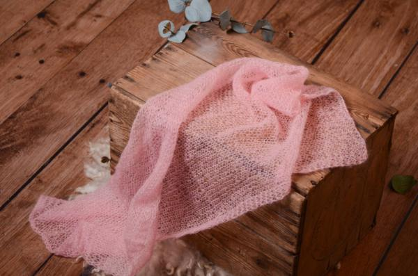 Wrap aus Angora in Rosa